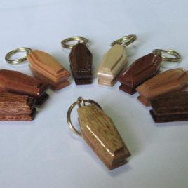 Portachiavi in legno naturale 3 cm